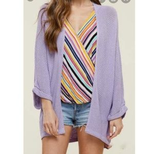 Staccato Ladies' Light Weight Text Cardigan S/M